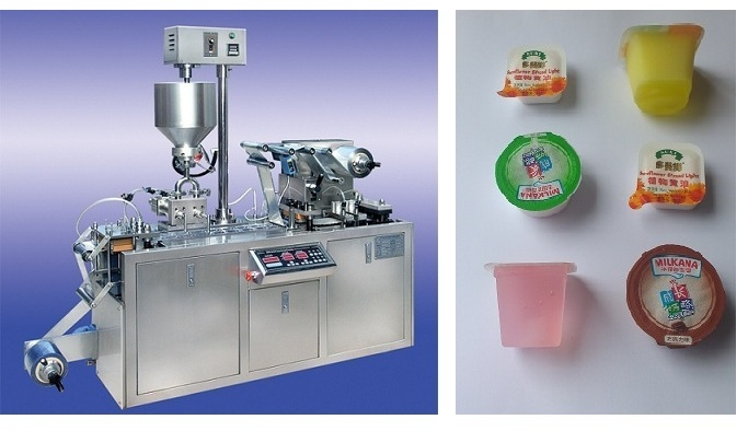 Thermoforming Packaging Machine DPP80 (for cheese, jam, butter, etc.)