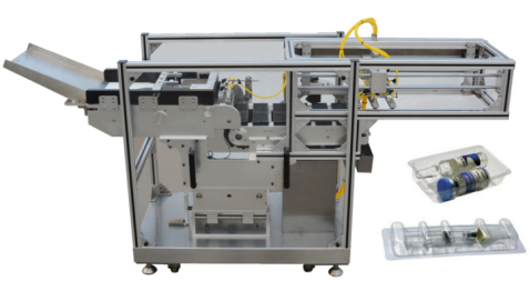 Blister Packaging Machine, vials and ampoules feeding systems.