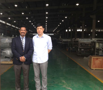 Customer from USA came to observe Capsule Filler & Blister Packaging