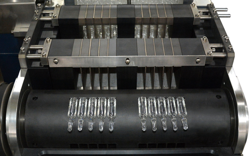 Blister Packaging Machine, ampoules into a horizontal position