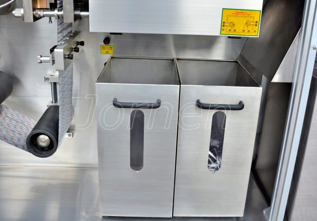 Blister Packaging Machine, waste material  tanks
