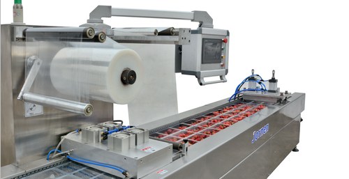 Thermoforming Packaging, the length of the filling platform can be customsized.