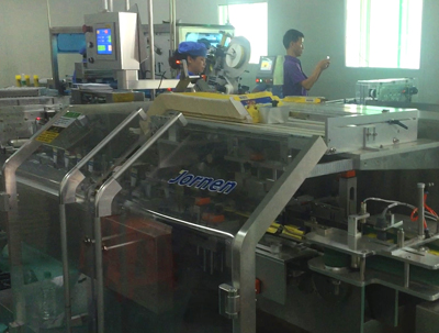 A line intergrated Cartoner, Blister Machine & Labeller
