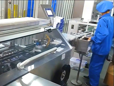 Cartoning Machine ZH220 in production in pharma