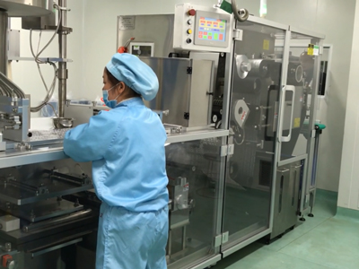 High Speed Blister Machine running in pharma